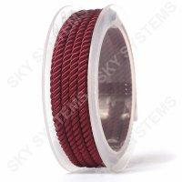 Шелковый шнур Милан 226 | 4.0 мм, Цвет: Бордовый 15