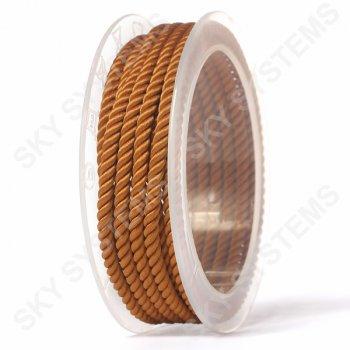 Шелковый шнур Милан 226 | 4.0 мм, Цвет: Коричневый 33