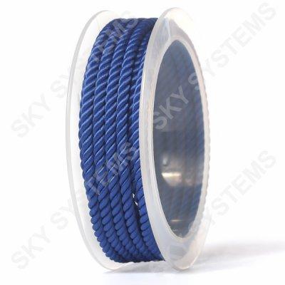 Шелковый шнур Милан 226   4.0 мм, Цвет: Синий 24
