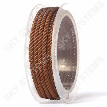 Шелковый шнур Милан 226 | 4.0 мм, Цвет: Коричневый 34