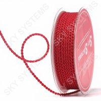 Плетеный шелковый шнур Милан 2017 | 2,5 мм, Цвет: Красный 01