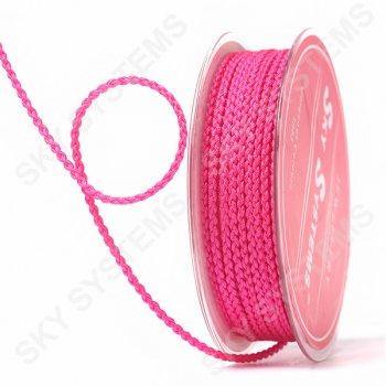 Плетеный шелковый шнур Милан 2017   2,5 мм, Цвет: Малиновый 03