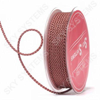 Плетеный шелковый шнур Милан 2017 | 2,5 мм, Цвет: Коричневый 10
