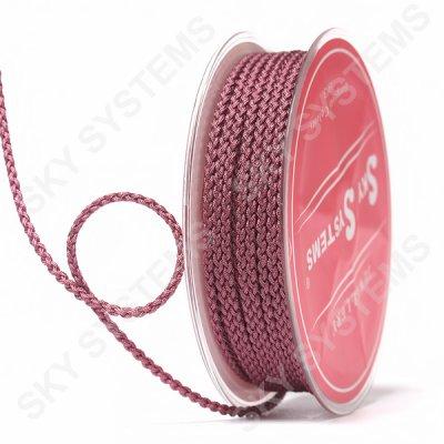 Плетеный шелковый шнур Милан 2017 | 2,5 мм, Цвет: Красно-коричневый 11