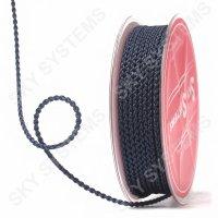 Плетеный шелковый шнур Милан 2017 | 2,5 мм, Цвет: Черный 36