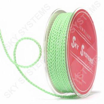 Плетеный шелковый шнур Милан 2017 | 2,5 мм, Цвет: Зеленый 45