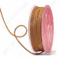Плетеный шелковый шнур Милан 2017 | 2,5 мм, Цвет: Коричневый 58