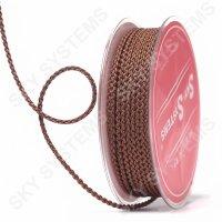 Плетеный шелковый шнур Милан 2017 | 2,5 мм, Цвет: Коричневый 66