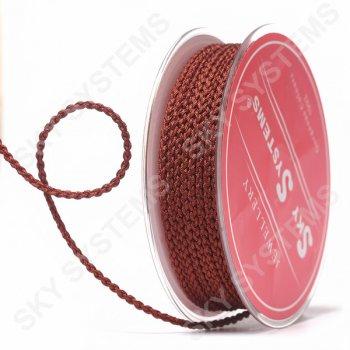 Плетеный шелковый шнур Милан 2017 | 2,5 мм, Цвет: Коричневый 67