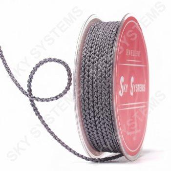Плетеный шелковый шнур Милан 2017 | 2,5 мм, Цвет: Серый 77