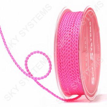 Плетеный шелковый шнур Милан 2017 | 2,5 мм, Цвет: Розовый неон 04