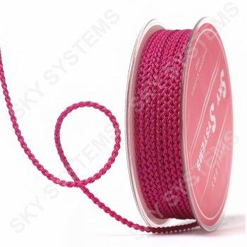 Плетеный шелковый шнур Милан 2017 | 2,5 мм, Цвет: Малиновый 15