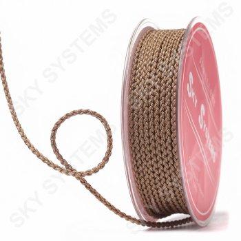 Плетеный шелковый шнур Милан 2017 | 2,5 мм, Цвет: Коричневый 56