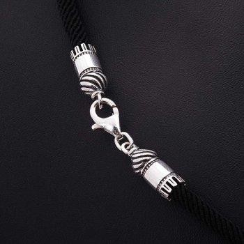 Шелковый шнурок с серебряной застежкой (4мм)