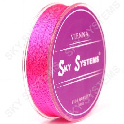 Розовые нитки для сережек-кисточек 0,4 мм 06