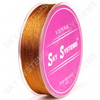 Коричневые нитки для сережек-кисточек 0,4 мм