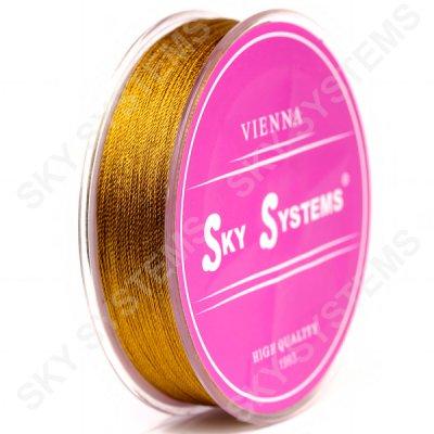 Коричневые нитки для сережек-кисточек 0,4 мм 29