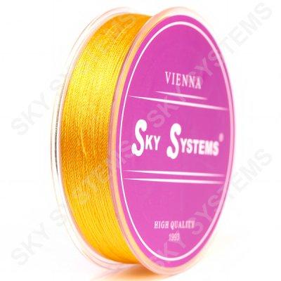 Нитки для сережок-кисточек 0.4 мм Желтый 36