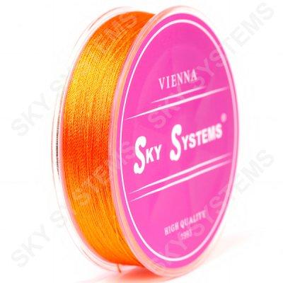 Оранжевые нитки для сережек-кисточек 0,4 мм 38