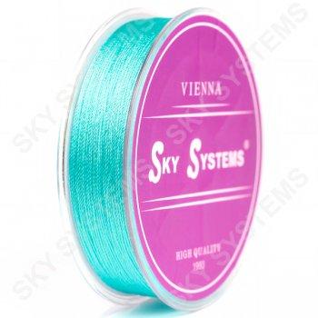 Голубые нитки для сережек-кисточек 0,4 мм