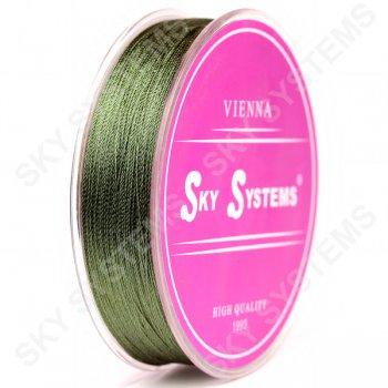 Зеленые нитки для сережек-кисточек 0,4 мм