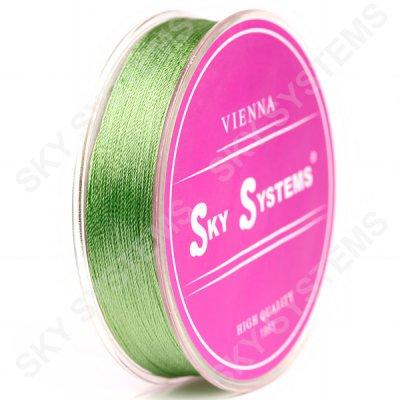 Нитки для сережок-кисточек 0.4 мм Зеленый 53