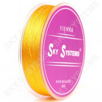 Желтые нитки для сережек-кисточек 0,4 мм