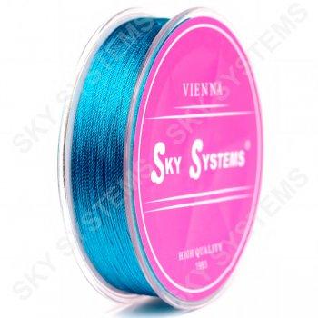 Синие нитки для сережек-кисточек 0,4 мм