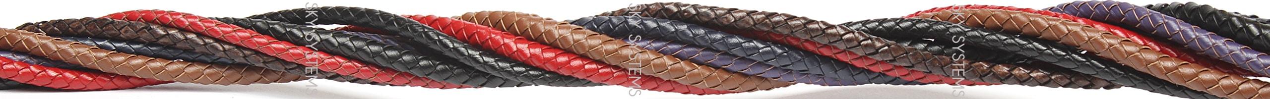Цветные кожаные плетеные шнуры Скай