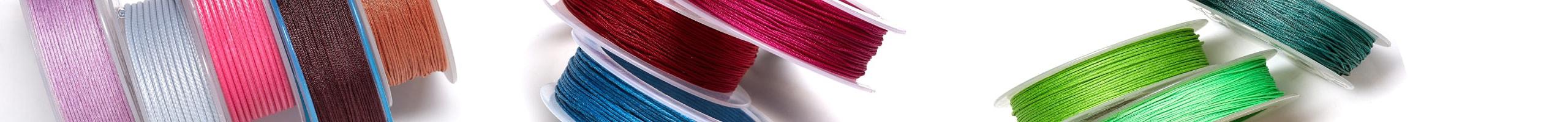 Разноцветные нити шамбала 1,2 мм