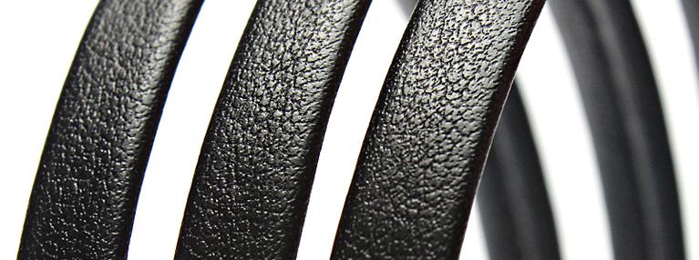 Кожаные плоские шнуры