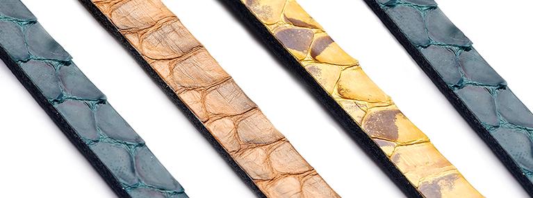 Полосы из кожи речной змеи