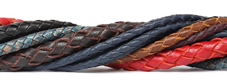 Кожаные плетеные шнуры