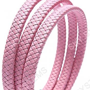 11 x 7 мм, Розовый | Плетеный плоский кожаный шнур | (SKY Австрия)