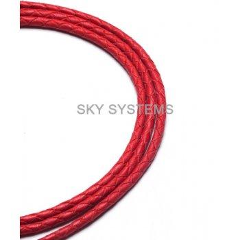 Кожаный плетеный шнур | 3,0 мм, Красный | SKY Австрия