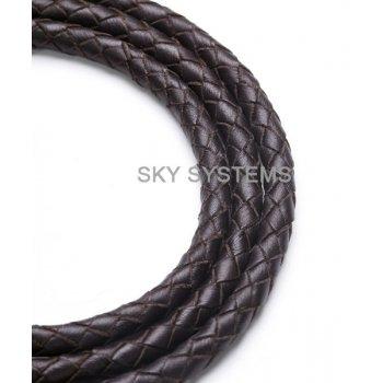 Кожаный плетеный шнур | 5,0 мм, Коричневый | SKY Австрия
