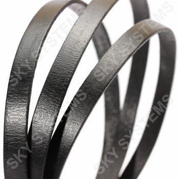Плоский кожаный шнур черный 8,0 x 2,0 мм