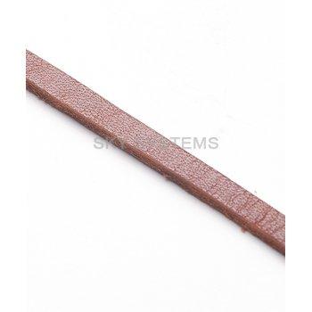 Плоский кожаный шнур коричневый 4,0 х 2,5 мм