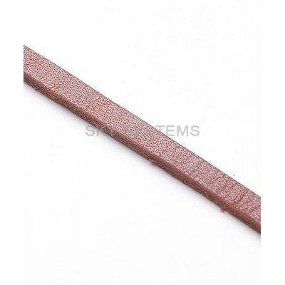 Плоский кожаный шнур | 4,0 х 2,5 мм, Цвет: Коричневый