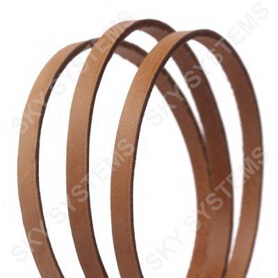 Плоский кожаный шнур | 6,0 х 2,5 мм, Цвет: Светло-Коричневый