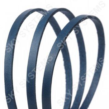 Плоский кожаный шнур синий 6,0 х 2,5 мм