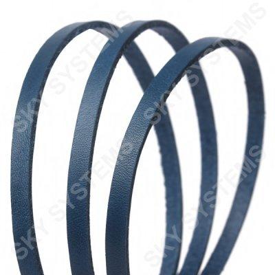 Плоский кожаный шнур | 6,0 х 2,5 мм, Цвет: Синий