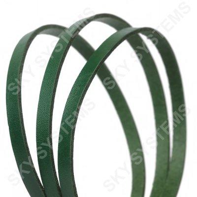 Плоский кожаный шнур | 6,0 х 2,5 мм, Цвет: Зеленый