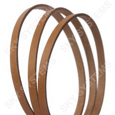 Плоский кожаный шнур | 6,0 х 2,5 мм, Цвет: Бежевый