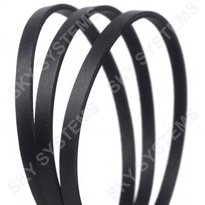 Плоский кожаный шнур | 6,0 х 2,5 мм, Цвет: Черный