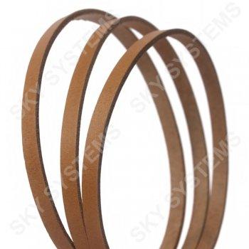 Плоский кожаный шнур бежевый 6,0 х 2,5 мм