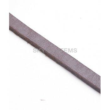 Плоский кожаный шнур коричневый 6,0 x 3,0 мм