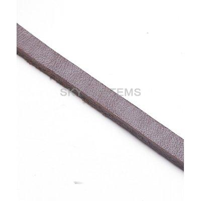 Плоский кожаный шнур | 6,0 x 3,0 мм, Цвет: Коричневый