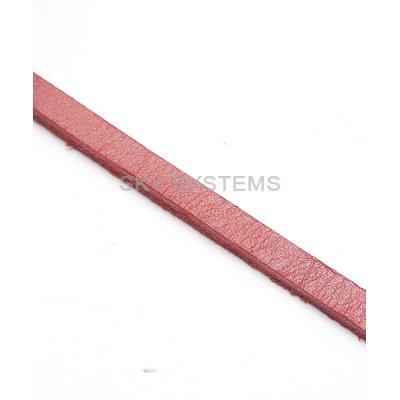 Плоский кожаный шнур | 6,0 х 3,0 мм, Цвет: Красный