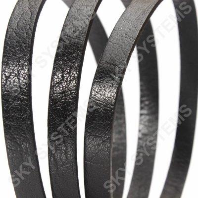 Плоский кожаный шнур 10,0 х 2,0 мм | Цвет: Черный
